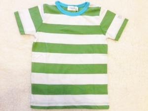 T-Shirt grün-weiß gestreift - Cotton People Organic