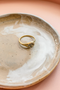 "Ring ""MOOD"" aus Messing mit 4 Motiven - ALMA -Faire Streetwear & Schmuck-"
