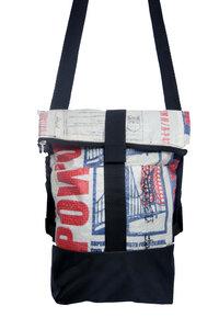 2 in 1 Rolltasche und Rucksack in S - Nyuzi Blackwhite