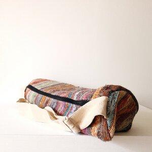 HH Yoga-Tasche aus wildem Hanf oder Recycle-Sari - Himal Hemp