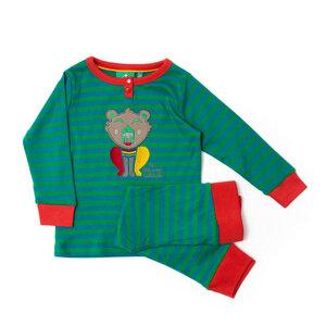 Little Green Radicals Pyjama gestickter Bär - Little Green Radicals
