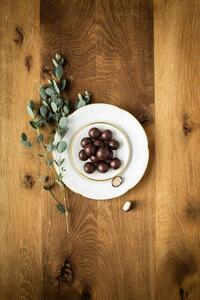 Edel-Marzipan in Zartbitterschokolade bio 90 g Geschenkverpackung - Jalall D´or