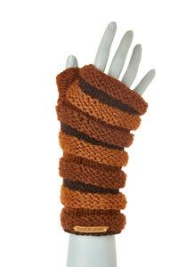 Schurwollhandstulpen in Streifenmuster, handgestrickt - short'n'pietz