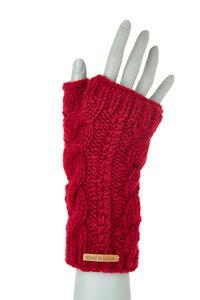 Schurwollhandstulpen mit Zopfmuster, handgestrickt - short'n'pietz