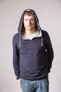 Hoodie - HOODED PITTA - dark blue - GLIMPSE Clothing