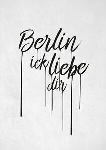 Berlin ick liebe dir - Poster von Christina Ernst - Photocircle