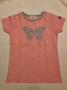 T-Shirt Schmetterling rosa - Cotton People Organic