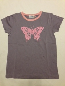 T-Shirt Schmetterling flieder - Cotton People Organic