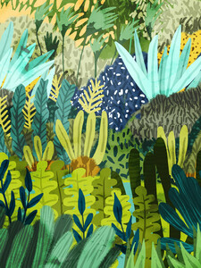 Wild Jungle II - Poster von Uma Gokhale - Photocircle