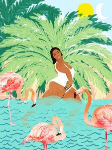 Water Yoga - Poster von Uma Gokhale - Photocircle