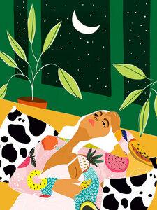 Moon Lover - Poster von Uma Gokhale - Photocircle