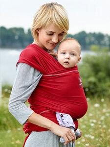 NEU - manduca Sling rot + 1 Paar Baby Legs gratis immer flexibel, immer bequem,immer dabei. - Manduca