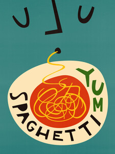 Yum Spaghetti - Poster von Fox And Velvet - Photocircle