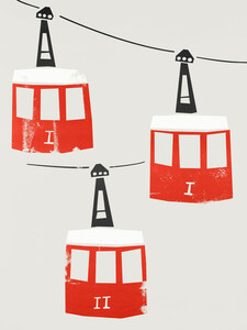 Barcelona Cable Cars - Poster von Fox And Velvet - Photocircle