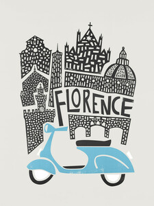 Florence Cityscape - Poster von Fox And Velvet - Photocircle