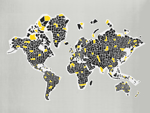 Abstract World Map - Poster von Fox And Velvet - Photocircle