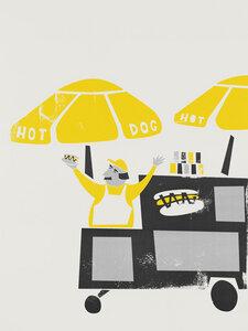The New York Hot Dog Vendor - Poster von Fox And Velvet - Photocircle