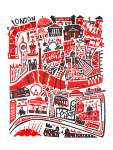 London Map - Poster von Fox And Velvet - Photocircle