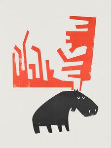 Grumpy Moose - Poster von Fox And Velvet - Photocircle