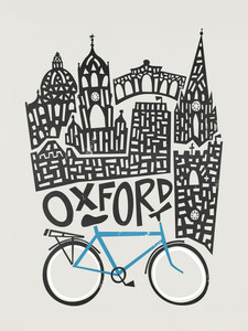 Oxford Cityscape - Poster von Fox And Velvet - Photocircle