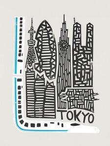 Tokyo Cityscape - Poster von Fox And Velvet - Photocircle