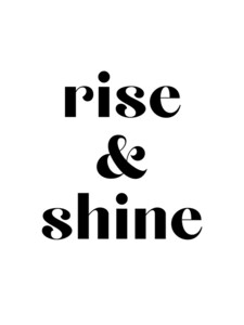 Rise and Shine No4 - Poster von Vivid Atelier - Photocircle