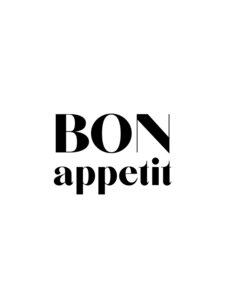 Bon Appetit No4 - Poster von Vivid Atelier - Photocircle