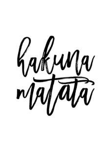 Hakuna Matata No2 - Poster von Vivid Atelier - Photocircle