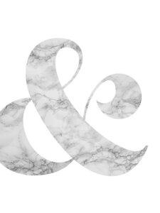 Marble Ampersand - Poster von Vivid Atelier - Photocircle