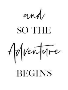 Adventure Begins - Poster von Vivid Atelier - Photocircle