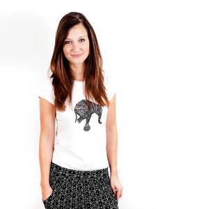 Balancing Act - Printshirt Frauen aus Biobaumwolle - Coromandel