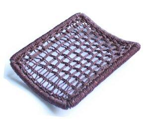 Seifenablage Seifenschale aus recyceltem Altmetall und Fischernetzen Nylon Upcycling - Moogoo Creative Africa
