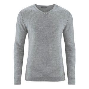 HempAge Herren Strick Pullover V-Kragen Hanf/Wolle/Bio-Baumwolle - HempAge