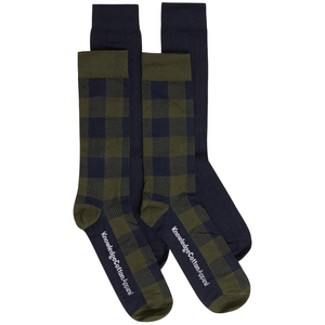 Timber 4 Pack Socken Kariert und Einfarbig GOTS Vegan - KnowledgeCotton Apparel