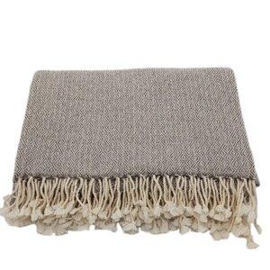 Decke (100% Wolle) mit Diamantmuster - Frida Feeling