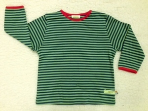 Langarmshirt grün-blau gestreift - loud + proud