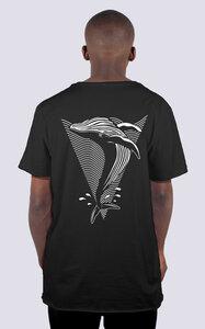 Whale, Männer Skate T-Shirt aus Bio-Baumwoll, Back Wal Print - vis wear