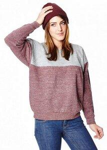 Mountain Sweater Ladies Red Melange/Light Grey - bleed