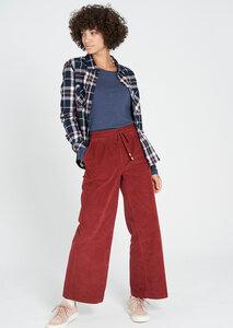 Damen Cord-Hosenrock aus Bio Baumwolle rot   Corduroy Culotte - recolution