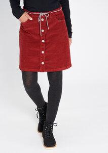 Damen Cord-Rock aus Bio Baumwolle rot | Corduroy Skirt - recolution