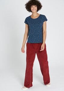 Gemustertes Damen T-Shirt aus Bio Baumwolle blau   Casual T-Shirt #CITYLIGHTS - recolution