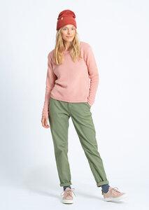 Damen Strickpullover aus Bio Baumwolle   Rib Knit Crew Neck - recolution