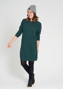 Damen Strickkleid aus Bio Baumwolle eukalyptus | Knitted Dress #POINTS - recolution