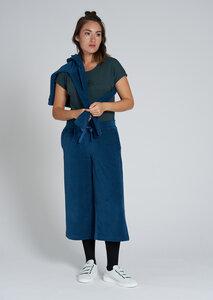 Damen Hosenrock aus Bio Baumwolle blau   Sweat Culotte - recolution