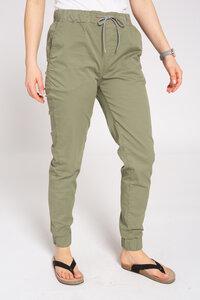 Damen Chino-Hose aus Bio Baumwolle olive/grün   Jogg Chino - recolution