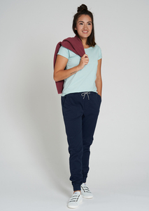 Damen Chino-Hose aus Bio Baumwolle olive/grün | Jogg Chino - recolution