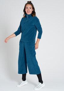 Damen Zip Sweatpullover aus Bio Baumwolle blau | Zip Sweatshirt - recolution