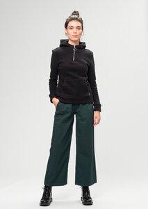 Damen Kapuzenpullover aus Bio Baumwolle schwarz | Zip Hoodie - recolution