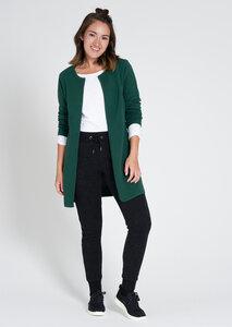 Damen Strickjacke aus Bio Baumwolle grün | Rib Knit Cardigan - recolution