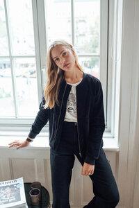 Damen Cord-Jacke aus Bio Baumwolle schwarz | Corduroy Blouson - recolution